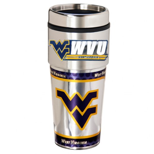 West Virginia Mountaineers Hi-Def Travel Tumbler