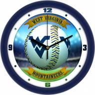 West Virginia Mountaineers Home Run Wall Clock