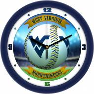 West Virginia Mountaineers Home Run Wall Clock
