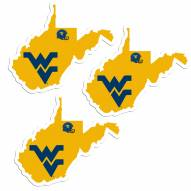 West Virginia Mountaineers Home State Decal - 3 Pack