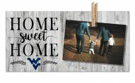 West Virginia Mountaineers Home Sweet Home Clothespin Frame