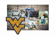 West Virginia Mountaineers I Love My Family Clip Frame