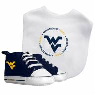 West Virginia Mountaineers Infant Bib & Shoes Gift Set