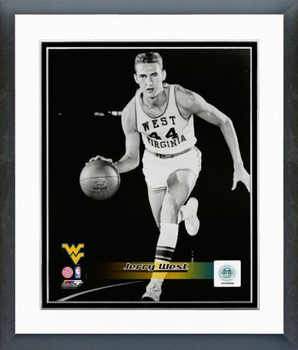 West Virginia Mountaineers Jerry West Posed Framed Photo