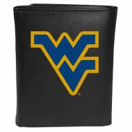 West Virginia Mountaineers Large Logo Leather Tri-fold Wallet