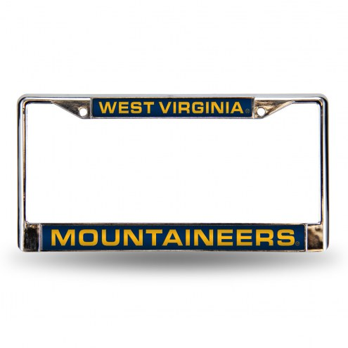 West Virginia Mountaineers Laser Chrome License Plate Frame