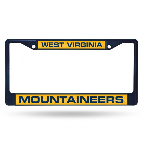 West Virginia Mountaineers Laser Colored Chrome License Plate Frame