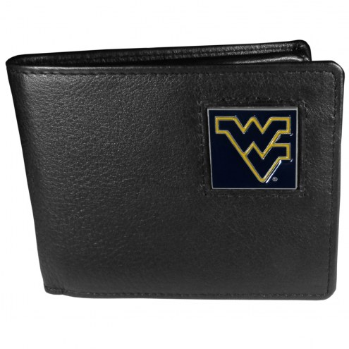 West Virginia Mountaineers Leather Bi-fold Wallet in Gift Box