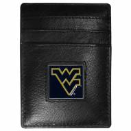 West Virginia Mountaineers Leather Money Clip/Cardholder in Gift Box