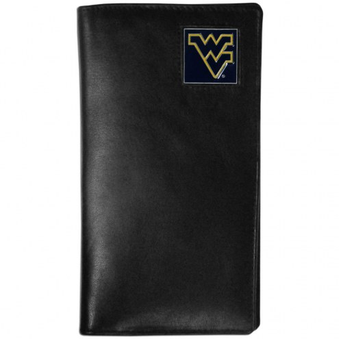 West Virginia Mountaineers Leather Tall Wallet