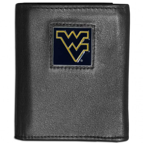 West Virginia Mountaineers Leather Tri-fold Wallet