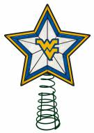 West Virginia Mountaineers Light Up Art Glass Tree Topper
