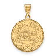 West Virginia Mountaineers Sterling Silver Gold Plated Large Pendant