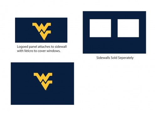 West Virginia Mountaineers Logo Canopy Sidewall Panel (Attaches to Window Sidewall)