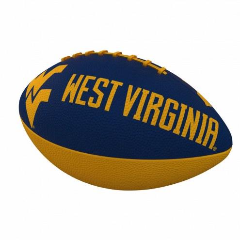 West Virginia Mountaineers Logo Junior Rubber Football