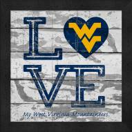 West Virginia Mountaineers Love My Team Square Wall Decor