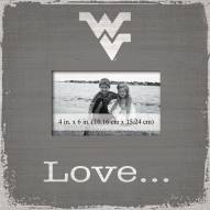 West Virginia Mountaineers Love Picture Frame