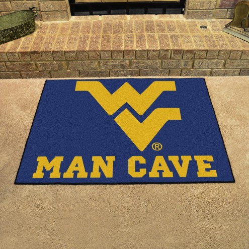 West Virginia Mountaineers Man Cave All-Star Rug
