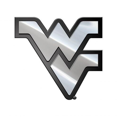 West Virginia Mountaineers Metal Car Emblem