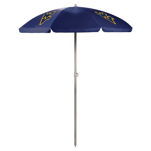 West Virginia Mountaineers Navy Beach Umbrella