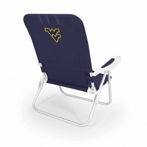 West Virginia Mountaineers Navy Monaco Beach Chair