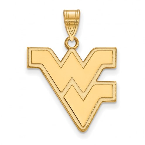 West Virginia Mountaineers NCAA Sterling Silver Gold Plated Large Pendant