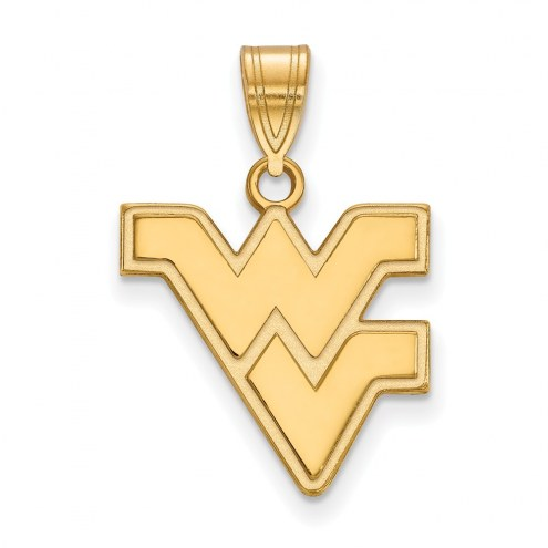 West Virginia Mountaineers NCAA Sterling Silver Gold Plated Medium Pendant