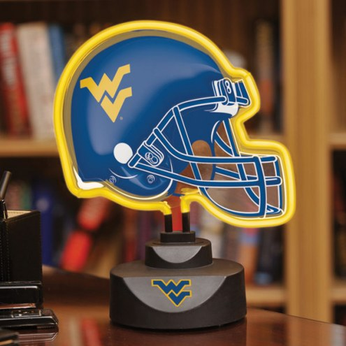 West Virginia Mountaineers Neon Helmet Desk Lamp