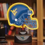 West Virginia Mountaineers Neon Helmet Desk Lamp