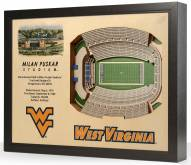 West Virginia Mountaineers 25-Layer StadiumViews 3D Wall Art