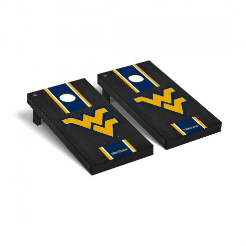 West Virginia Mountaineers Onyx Stained Cornhole Game Set