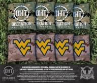 West Virginia Mountaineers Operation Hat Trick Cornhole Bag Set