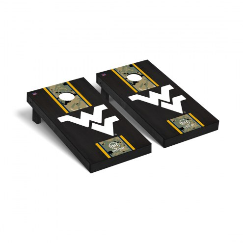 West Virginia Mountaineers Operation Hat Trick Onyx Stained Cornhole Game Set