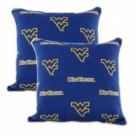 West Virginia Mountaineers Outdoor Decorative Pillow Set