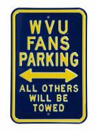 West Virginia Mountaineers Parking Sign
