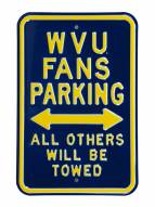 West Virginia Mountaineers Parking Sign