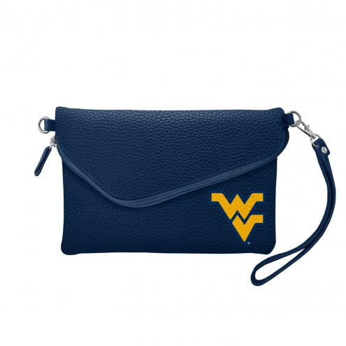 West Virginia Mountaineers Pebble Fold Over Purse