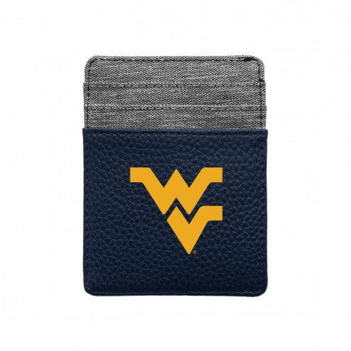 West Virginia Mountaineers Pebble Front Pocket Wallet