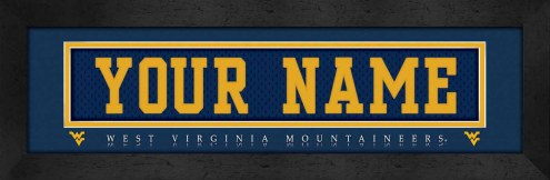 West Virginia Mountaineers Personalized Stitched Jersey Print