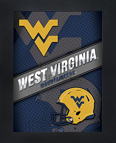 West Virginia Mountaineers Framed 3D Wall Art