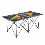 West Virginia Mountaineers Pop Up 6' Ping Pong Table