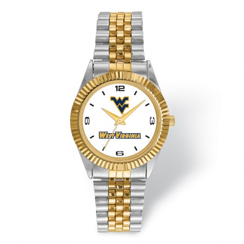 West Virginia Mountaineers Pro Two-Tone Gents Watch