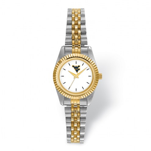 West Virginia Mountaineers Pro Two-Tone Ladies Watch