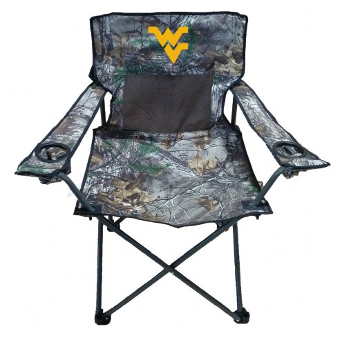 West Virginia Mountaineers RealTree Camo Tailgating Chair