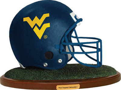 West Virginia Mountaineers Collectible Football Helmet Figurine