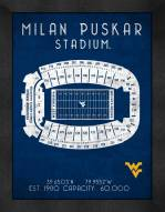 West Virginia Mountaineers Retro Stadium Chart Framed Print