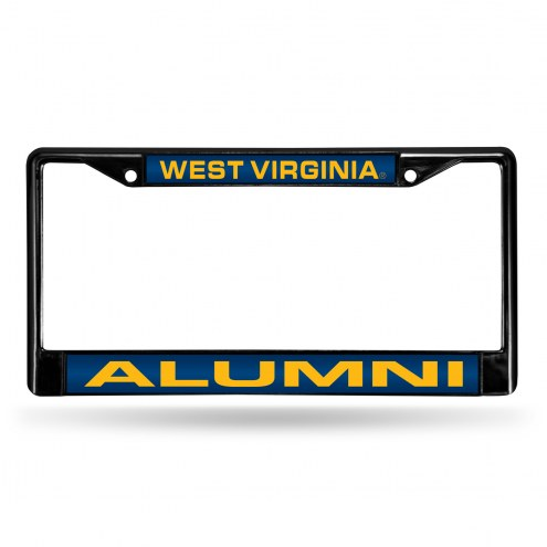 West Virginia Mountaineers Laser Black License Plate Frame