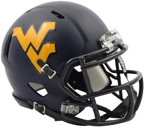 West Virginia Mountaineers Riddell Speed Mini Collectible Satin Football Helmet