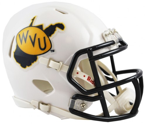 West Virginia Mountaineers Riddell Speed Mini Collectible Throwback Football Helmet