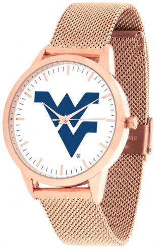 West Virginia Mountaineers Rose Mesh Statement Watch